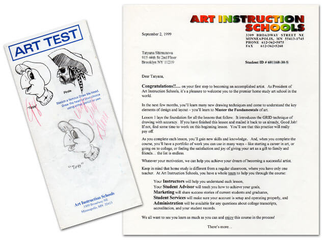 Art Instruction Schools Exam and Acceptance