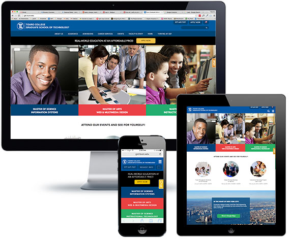 Touro College Graduate School of Technology Responsive Website